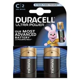 Bild von Duracell Ultra Power MX1400 Baby  2er Blister