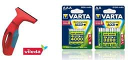Bild von Varta Aktionspaket Recharge Accu Power inkl. Vileda Windo matic Paket